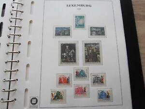Luxemburg 1969 - 90 komplett postfrisch im Vordruckalbum