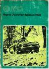 MG MGB ROADSTER & GT COUPE (RUBBER BUMPER) ORIGINAL 1978 FACTORY WORKSHOP MANUAL