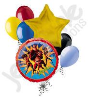 7pc The Incredibles Balloon Bouquet Happy Birthday Party Decoration Disney Pixar