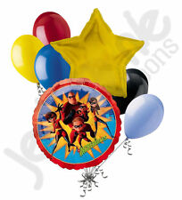 7pc The Incredibles Balloon Bouquet Happy Birthday Party Decoration Disney Pixar