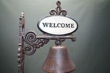 Große Glocke Türglocke rustikal Door Bell Gusseisen Welcome