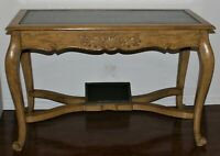 Vintage French Regency Leather Top Writing Table With Footrest L Maslow & Sons