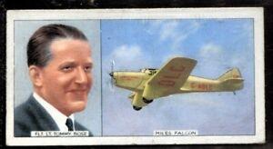 Tobacco Card, Carreras, FAMOUS AIRMEN & AIRWOMEN, 1936, Thomas Rose, #46