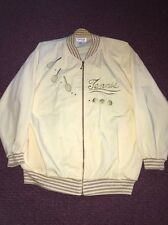 Very Vintage Tennis Jacket Ladies Rafael Sparkles Yellow Halloween Billie Jean K