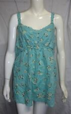 Thyme Maternity Floral Top Tunic Women's Size Large NWT