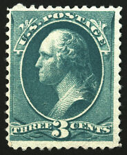 #207 3c Blue Green 1881 Vf *Mnh* Sharp