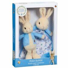Peter Rabbit Rattle and Comforter Gift Set Beatrix Potter Baby Shower Idea
