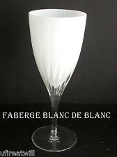 1 FABERGE BLANC DE BLANC OPAL CASED CUT TO CLEAR CRYSTAL WINE GOBLET