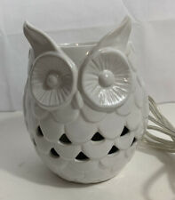 Yankee Candle White Owl Electric Scenterpiece MeltCup Wax Warmer LED Light