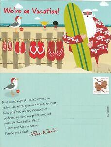 CANADA SANTA CLAUS AFTER XMAS POST CARD FRENCH & ENGLISH - 2012 WEBB # DP300 - 1