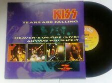"KISS - Heavens On Fire/ Tears Are Falling 12""inch Vinyl single rare"