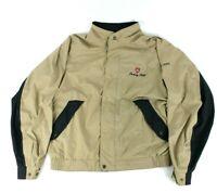 Footjoy Dryjoy Men's M Long Sleeve Waterproof Jacket 1/2 Zip Tan