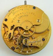 Waltham Pocket Watch Movement - Riverside - Parts / Repair