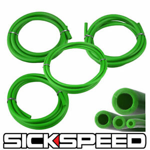 3 METER SILICONE HOSE KIT SET FOR ENGINE BAY DRESS UP 4MM 6MM 8MM 12MM GREEN P2