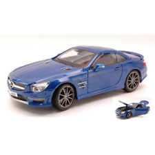 Mercedes SL 65 AMG 45th Anniversary 2013 Hard Top Metallic Blue 1 18 Maisto