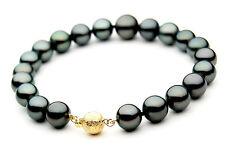 Pacific Pearls® AAA 9-11 mm Tahitian Black Pearl Bracelet