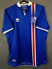 ICELAND NATIONAL 2016/2017 ISLAND HOME SOCCER FOOTBALL SHIRT JERSEY SIZE S / XS
