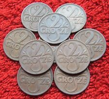 POLAND SET OF OLD COIN PRE-WAR 2 GROSZE 1938 YEAR ONE PIECE LOT POLSKA 1 PC