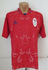 GREAT BRITAIN 2012 OLYMPIC FOOTBALL SHIRT SOCCER JERSEY TEAM GB RED TOP ADIDAS M