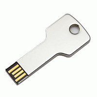 New 8 GB USB Silver Key Shape Flash USB Memory Stick Pen Drive 8G #180