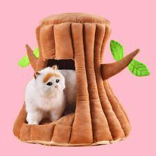 Cute Tree Cat Kitten Bed House Pet Puppy Soft Comfort Felt Hut Cave Nest UK