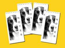 Border Collie Dog Pack of 4 Small Slim Note Pads Gift Set