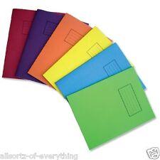 Silvine Libros de ejercicio X 5 Home School Office A5 Papel Blanco Liso Forrado cuadrados