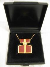 FIDJI Guy Laroche Paris Gold Plated Enamel Necklace ~ Rare