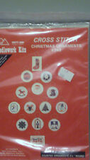 """PATTY*ANN CREATIONS COUNTED CROSS STITCH KIT 14 ROUND CHRISTMAS ORNAMENTS 2 1/2"""""""