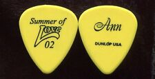 HEART 2002 Summer Love Tour Guitar Pick!!! ANN WILSON custom concert stage