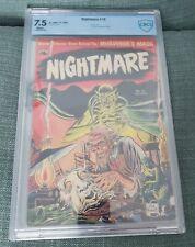 Nightmare 10 Rare Precode Horror, 1953 CBCS 7.5 NOT CGC WHITE PAGES MEGA RARE
