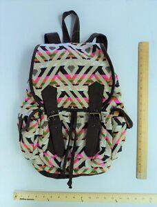 Stone Mountain Brown Orange Pink Green Back Pack Tote Bag Purse - FLASH SALE