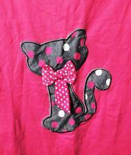 JOANNA Women Ladies Hot Pink Pajama / T-shirt Cat with Bow XXL 100% Cotton NWT