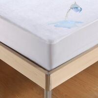 Cotton Mattress Cover Protector Waterproof Pad Bed Bug Dust Mite Hypoallergenic