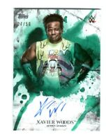 WWE Xavier Woods 2018 Topps Undisputed Green On Card Autograph SN 27 of 50