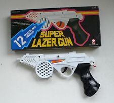 Vintage TC 12 Sounds SUPER LAZER GUN Space Ray Gun Pistol MIB 1980's