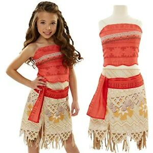 DISNEY MOANA ADVENTURE OUTFIT SIZE 3+ FITS SIZES 4-6X FREE POSTAGE