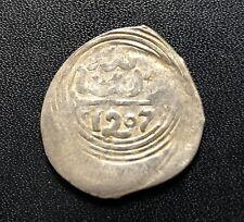 Islamic (Alawi Sharifs- Morocco) AH1207 Dirham Silver Coin:  Hisham I Marrakesh