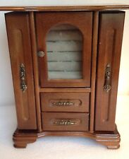 Wood Jewelry Cabinet Box Organizer Storage Vintage Montgomery Ward