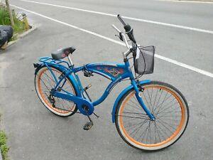 """BCA 26"""" Margaritaville Multi-Speed Cruiser  Bike, Blue"""