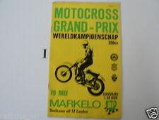 1968 GRAND PRIX MOTOCROSS 250CC MARKELO 19 MEI PROGRAMME ROBERT CZ,SUZUKI