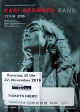 BREMNES, KARI - 2016 - Konzertplakat - In Concert - Tourposter - Düsseldorf