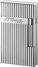 S.T. Dupont Ligne 2 Lighter, Silver Verticle Lines, 16817 (016817) New In Box
