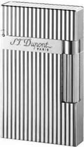 S.T. Dupont Ligne 2 Lighter, Silver Vertical Lines, 016817 (16817) New In Box