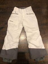 Marmot White Waterproof Youth Boys Girls Ski Snow Pants Insulated XS 4-6 Adjusts