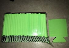 Lime Green can Cooler Fun Coolie koozie blank lot 50 Sublimation Summer Party
