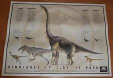 Vintage Dinosaurs of Jurassic Park Poster- MCA Universal 1993 Promotional 18x24