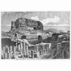 WROXETER Excavation of the Roman Town of Uriconium - Antique Print 1859