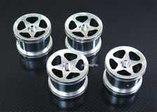 Alloy Front + Rear Wheels Rim Set for Associated RC18B RC18R RC18T Silver