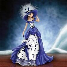 """""""Rowena"""" Blue Willow Pattern Lady Figurine NEW"""